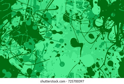 Seamless paint splatter pattern in green from the Flat UI palette