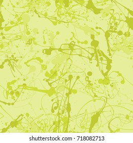 Seamless paint splatter pattern in Lime from the Material Design palette