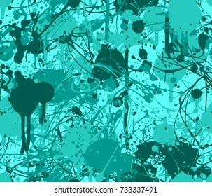 Seamless paint splatter pattern in teal from the Flat UI palette
