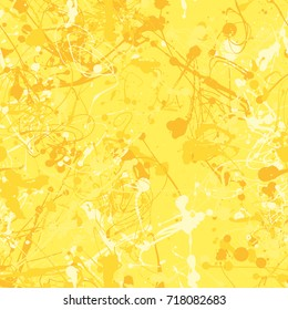 Seamless paint splatter pattern in Yellow from the Material Design palette