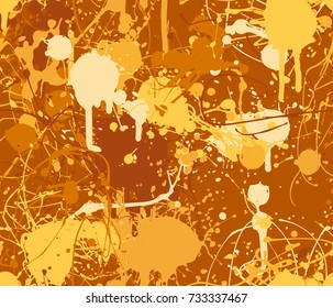 Seamless paint splatter pattern in yellow from the Flat UI palette