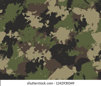 Seamless Paint Splattered Camouflage