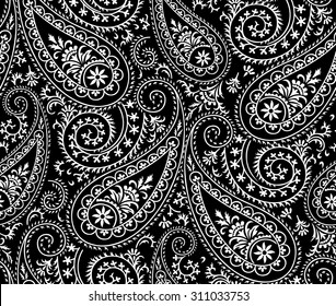 Seamless Paisley background Elegant Hand Drawn Pattern
