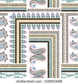 seamless paisley with bandanna pattern