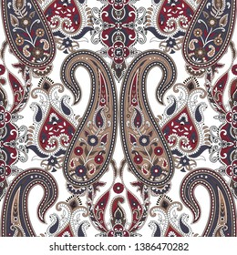 seamless  paisley pattern  on background