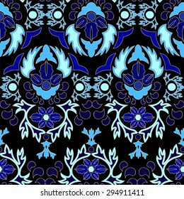 seamless paisley pattern.orient or russia design. vector illustration