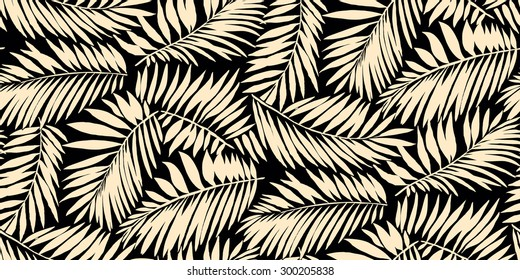Seamless Palm Leaf Pattern in vector