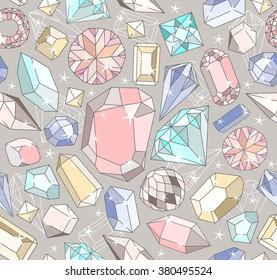 seamless pastel diamond pattern background with