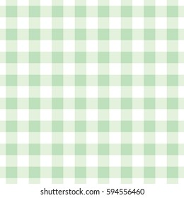 seamless pastel green plaid checkered gingham pattern