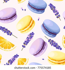 Seamless pastel macarons