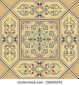 seamless patchwork tile with Moroccan motives