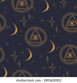 seamless pattern about yoga time and  space