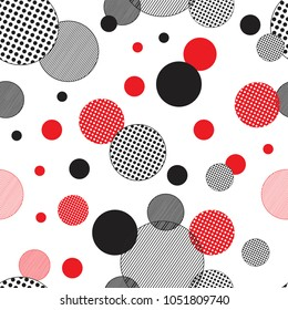 Seamless pattern. Abstract background with circles and lines