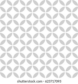 Seamless pattern. Abstract circle pattern on white background. Modern stylish texture with regularly repeating geometrical shapes, circles,