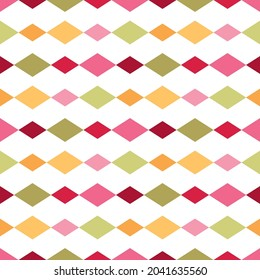 seamless pattern abstract geometric colourful diamonds white vector background wallpaper textile giftwrap