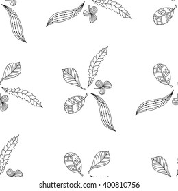 Seamless pattern with abstract leaf. Background, wallpaper, textile, cover, wrapper.