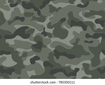 Seamless pattern. Abstract military or hunting camouflage background. Olive, green color. Vector illustration.