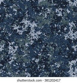 Seamless pattern. Abstract military or police camouflage background. Made from geometric square shapes. Vector illustration.