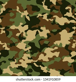 Сamouflage seamless pattern. Abstract modern camo military background for army an hunting. Fabric and fashion textile pint. Vector texture.