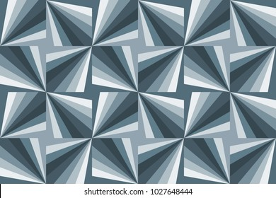 Seamless pattern with an abstract pinwheel design in Blue Grey from the Material Design palette