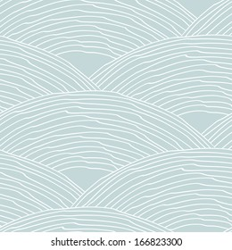 Seamless pattern with abstract stylized hand drawn scale texture. Neutral background. Vector illustration