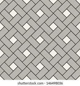 Seamless pattern. Abstract vintage geometric wallpaper. Vector illustration