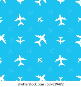 seamless pattern with airplanes.vector illustration.