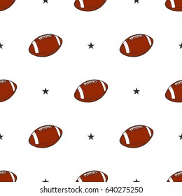 Seamless pattern - American football ball