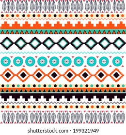 Seamless pattern with american indian geometric  print