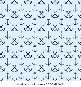 Seamless Pattern Anchor Ocean .Pattern suitable for posters, postcards, fabric or wrapping paper.