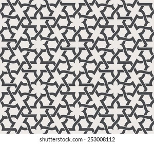 Seamless pattern in arabic style. Arabesque. Vector illustration.