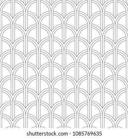 Seamless pattern of arcs. Geometric striped background. Vector illustration. Good quality. Good design.