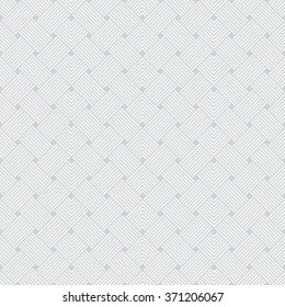 Seamless pattern. Art deco background. Simple elegant texture with thin lines. Regularly repeating geometrical ornament with intersecting lines, zigzags. Vector element of graphical design