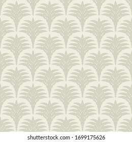 Seamless pattern in art Deco style. Decorative illustration of a palm tree, vintage ornament in vector. Wallpaper or elegant fabric