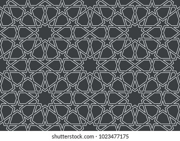 Фотообои Seamless pattern in authentic arabian style. Color watches control. Vector illustration