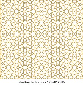 Seamless pattern in authentic ottoman style. Islamic background, moroccan, turkish, persian, ottoman pattern EPS 10 format Vector drawing. Wall paper, gift card, background, fabric, for web or print.