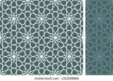Фотообои Seamless pattern in authentic ottoman style. Islamic background, moroccan, turkish, persian, ottoman pattern EPS 10 format Vector drawing. Wall paper, gift card, background, fabric, for web or print.