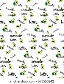 seamless pattern avocado