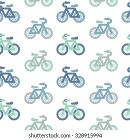 Seamless pattern. Baby background with Bicycle. / Paper for scrapbook or background. Vector illustration.