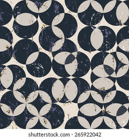 seamless pattern background, halftone, with circles, grungy, seamless