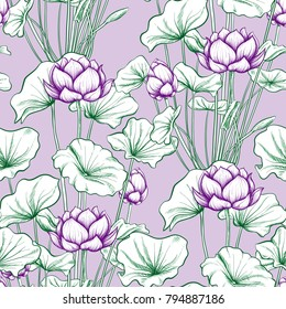 Lotus Flower Pattern Images Stock Photos Vectors Shutterstock