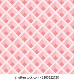 seamless pattern background with optical illusion.pink trapezoid pattern background.interlaced grid pattern.pigeonhole