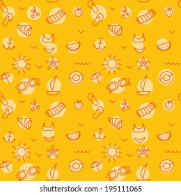 Seamless pattern background for summer