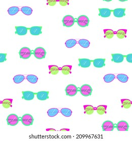 seamless pattern background with sunglasses in vector