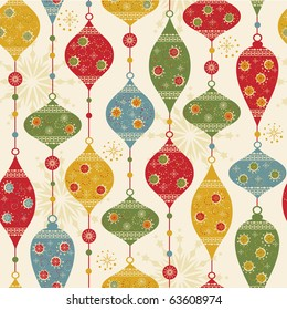 Seamless pattern with balls and stars