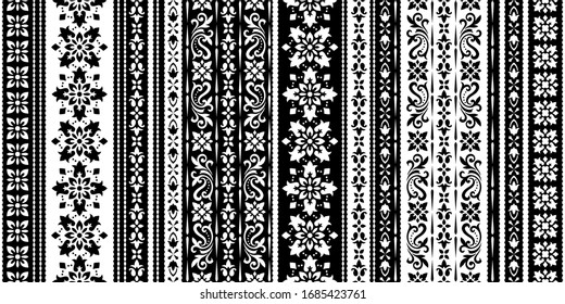 Seamless pattern based on ornament paisley Bandana Print. Boho vintage style vector background. Silk neck scarf or kerchief square pattern design style, best motive for print on fabric or paper.