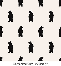 seamless pattern, bear vector art  background design for fabric and decor