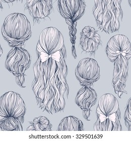 Sketch Hairstyle Images Stock Photos Vectors Shutterstock