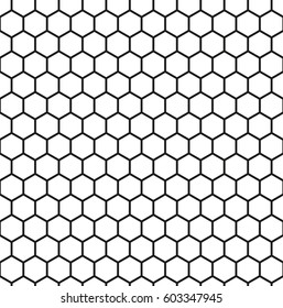 Seamless pattern of bee honeycombs
