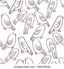 Seamless pattern of birds. Vector illustration. Background for poster or cover. Figure for textiles.